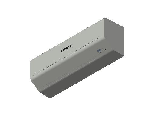 HC_Air Conditioner_Indoor Unit_F_MEPcontent_Mitsubishi Heavy Industries_RAC_SRK25ZSP-W_INT-EN.dwg
