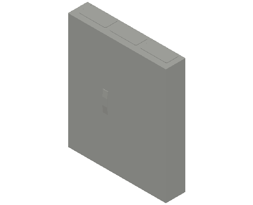 E_Distribution Panel_MEPcontent_ABB_ComfortLine CA-Cabinets_6 Rows_Empty Cabinet_CA36B - IP44 216 modules 950x800x160 media ventilated_INT-EN.dwg