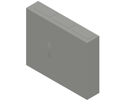 E_Distribution Panel_MEPcontent_ABB_ComfortLine CA-Cabinets_4 Rows_Empty Cabinet_CA34B - IP44 114 modules 650x800x160 empty with door_INT-EN.dwg