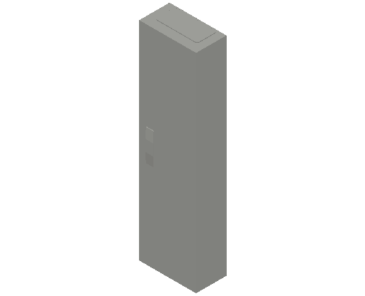 E_Distribution Panel_MEPcontent_ABB_ComfortLine CA-Cabinets_6-7 Rows_CA17RT - IP44 72 modules 1100x300x160 transparent door 6R_INT-EN.dwg