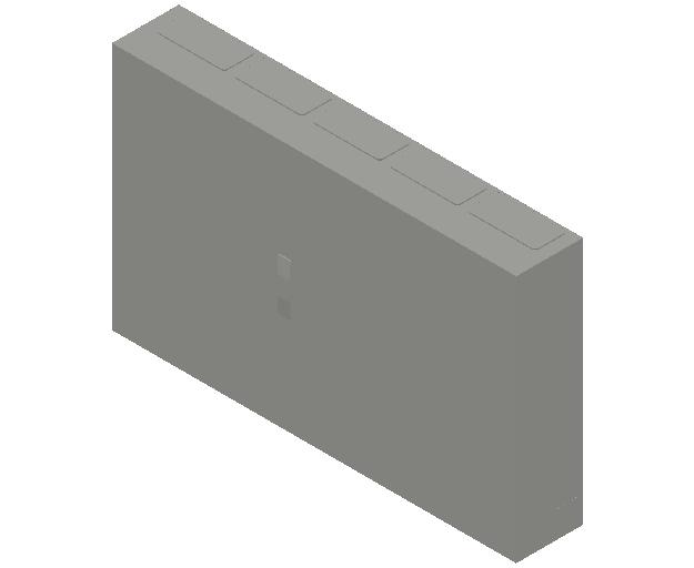 E_Distribution Panel_MEPcontent_ABB_ComfortLine B-Cabinets_5 Rows_B55 - IP44 300 modules 800x1300x215_INT-EN.dwg