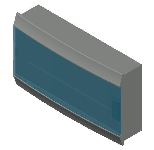 E_Distribution Board_MEPcontent_ABB_MISTRAL41F_Hollow Walls_18 modules 430x250x107 without terminals transparent door_INT-EN.dwg