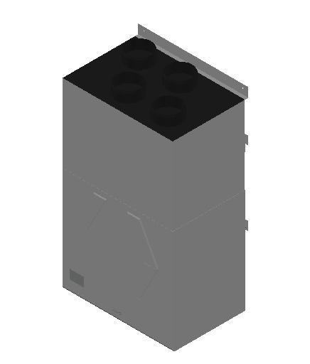VE_Air Heater_Heat Recovery_MEPcontent_Mitsubishi Electric Corporation_VL-350CZPVU-L-E_Silencer Box P-350SB-E_INT-EN.dwg