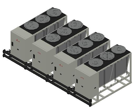 HC_Heat Pump_MEPcontent_Elco_Cascade AEROTOP L 65 4 Units_INT-EN.dwg