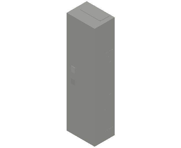 E_Distribution Panel_MEPcontent_ABB_ComfortLine B-Cabinets_7 Rows_B17 - IP44 84 modules 1100x300x215_INT-EN.dwg