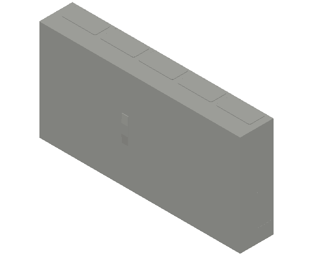 E_Distribution Panel_MEPcontent_ABB_ComfortLine B-Cabinets_4 Rows_B54 - IP44 240 modules 650x1300x215_INT-EN.dwg