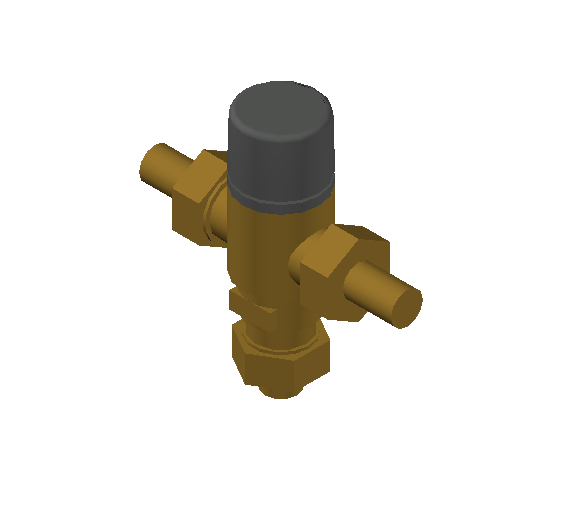 SA_Adjustable_Three-way_Thermostatic_Mixing_Valve_MEPContent_Caleffi-521A_DN15-DN25_.5 in. SWT With inlets check valves_US-EN.dwg