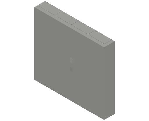 E_Distribution Panel_MEPcontent_ABB_ComfortLine CA-Cabinets_6 Rows_Empty Cabinet_CA36B - IP44 288 modules 950x1050x160 empty with door_INT-EN.dwg