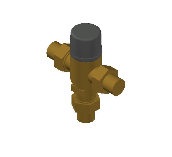 SA_Adjustable_Three-way_Thermostatic_Mixing_Valve_MEPContent_Caleffi-521A_DN15-DN25_.75 in. NPT_US-EN.dwg