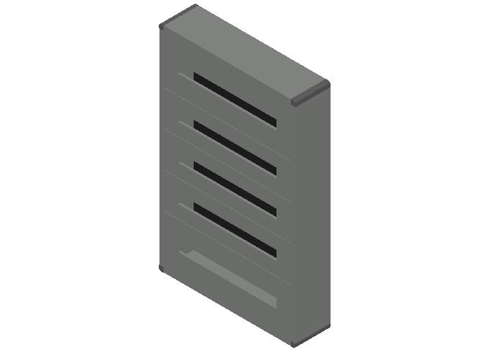 E_Distribution Panel_MEPcontent_Legrand_Lexic XL3 160_Plastic_Wall Mounting_5x120_INT-EN.dwg