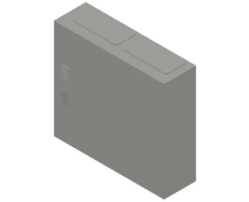 E_Distribution Panel_MEPcontent_ABB_ComfortLine CA-Cabinets_3 Rows_Empty Cabinet_CA23B - IP44 72 modules 500x550x160 empty with door_INT-EN.dwg