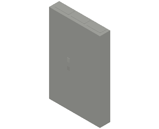 E_Distribution Panel_MEPcontent_ABB_ComfortLine CA-Cabinets_7-8 Rows_CA38RT - IP44 252 modules 1250x800x160 transparent door 7R_INT-EN.dwg