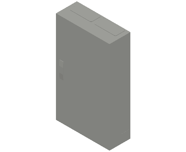 E_Distribution Panel_MEPcontent_ABB_ComfortLine B-Cabinets_6 Rows_B26 - IP44 144 modules 950x550x215_INT-EN.dwg