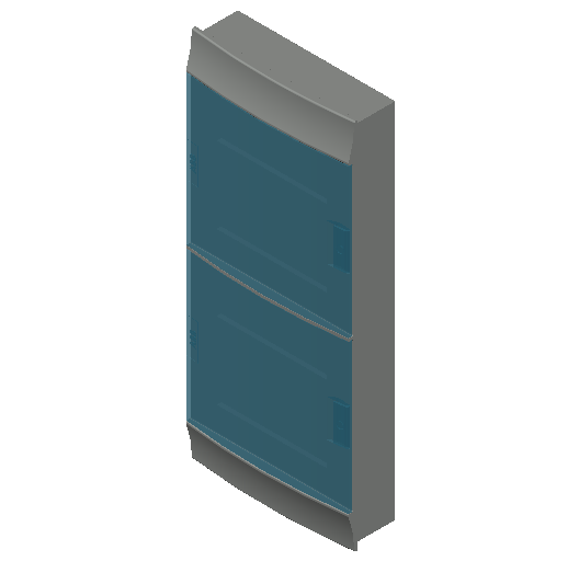 E_Distribution Board_MEPcontent_ABB_MISTRAL41F_Hollow Walls_48 modules 320x735x107 without terminals transparent door_INT-EN.dwg