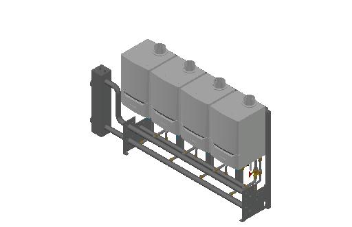 HC_Boiler_MEPcontent_De Dietrich Thermique_Cascade Freestanding 4_Evodens Pro_4x AMC 90 with Concentric Connection 150_INT-EN.dwg