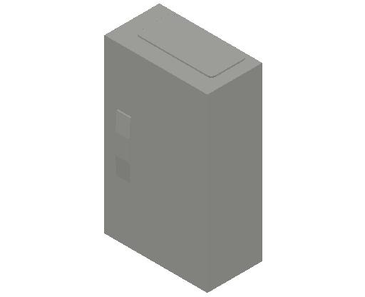 E_Distribution Panel_MEPcontent_ABB_ComfortLine CA-Cabinets_3 Rows_Empty Cabinet_CA13B - IP44 36 modules 500x300x160 empty with door_INT-EN.dwg