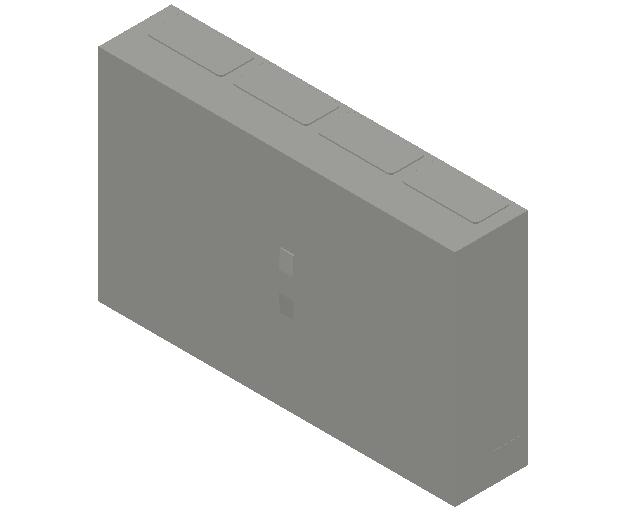 E_Distribution Panel_MEPcontent_ABB_ComfortLine B-Cabinets_4 Rows_B44 - IP44 192 modules 650x1050x215_INT-EN.dwg