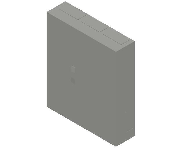 E_Distribution Panel_MEPcontent_ABB_ComfortLine B-Cabinets_6 Rows_B36 - IP44 216 modules 950x800x215_INT-EN.dwg