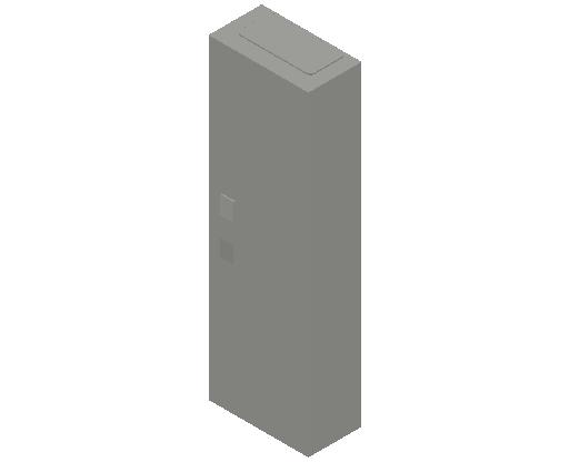 E_Distribution Panel_MEPcontent_ABB_ComfortLine CA-Cabinets_6 Rows_Empty Cabinet_CA16B - IP44 72 modules 950x300x160 empty with door_INT-EN.dwg