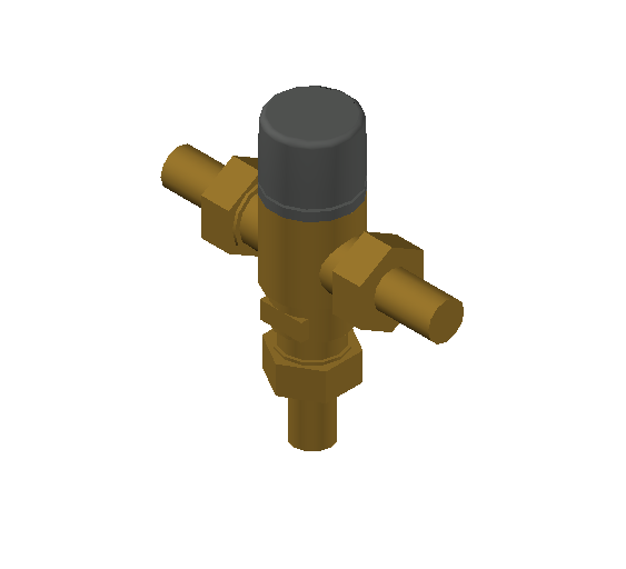 SA_Adjustable_Three-way_Thermostatic_Mixing_Valve_MEPContent_Caleffi-521A_DN15-DN25_.5 in. NPT With inlets check valves_US-EN.dwg