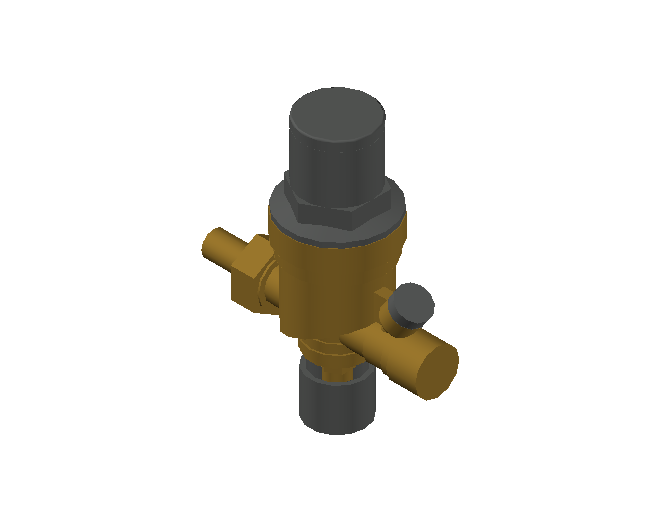 M_Valve_Control_MEPcontent_Caleffi_553 DN15_1_2'' with hose connection and pressure gauge connection.dwg
