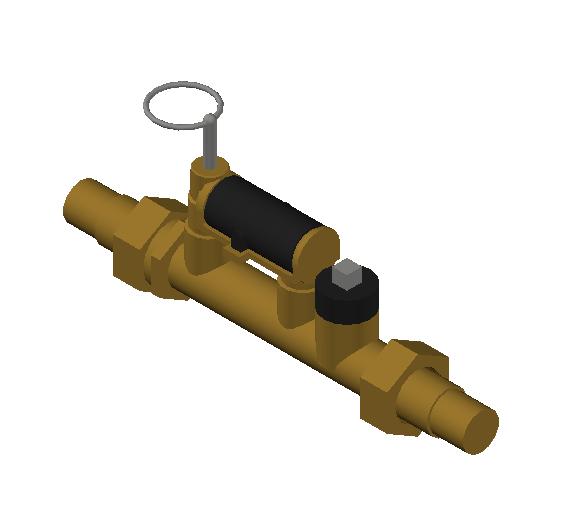 SA_Balancing_valve_with_flow_meter-MEPContent_Caleffi-132AFC-DN15-DN25_1 in. PEX Crimp - 2-7 GPM_US-EN.dwg