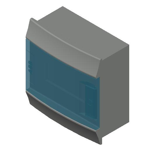E_Distribution Board_MEPcontent_ABB_MISTRAL41F_Hollow Walls_6 modules 192x202x104 without terminals transparent door_INT-EN.dwg