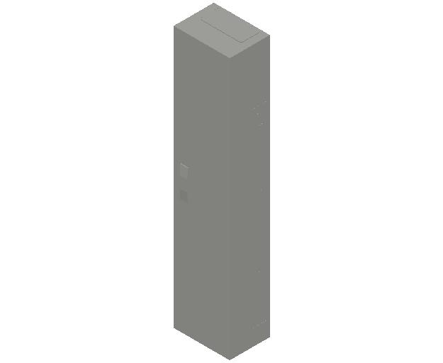 E_Distribution Panel_MEPcontent_ABB_ComfortLine A-Cabinets_9 Rows_Empty Cabinet_A19B - 108 modules 1400x300x215 transparent door_INT-EN.dwg