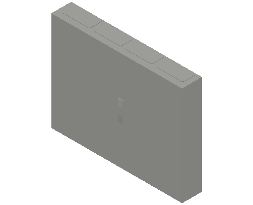 E_Distribution Panel_MEPcontent_ABB_ComfortLine CA-Cabinets_5 Rows_CA45 - IP44 240 modules 800x1050x160 empty with door 5R_INT-EN.dwg