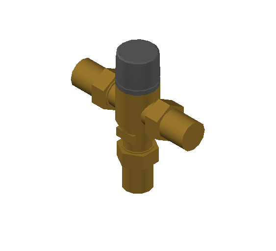 SA_Adjustable_Three-way_Thermostatic_Mixing_Valve_MEPContent_Caleffi-521A_DN15-DN25_1 in. SWT_US-EN.dwg