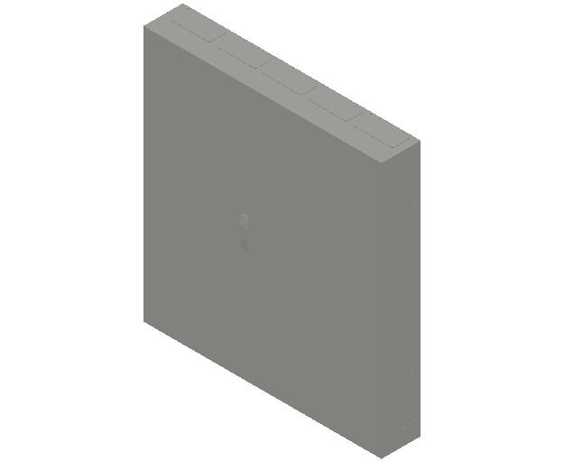 E_Distribution Panel_MEPcontent_ABB_ComfortLine A-Cabinets_9 Rows_Empty Cabinet_A59B - 540 modules 1400x1300x215 transparent door_INT-EN.dwg