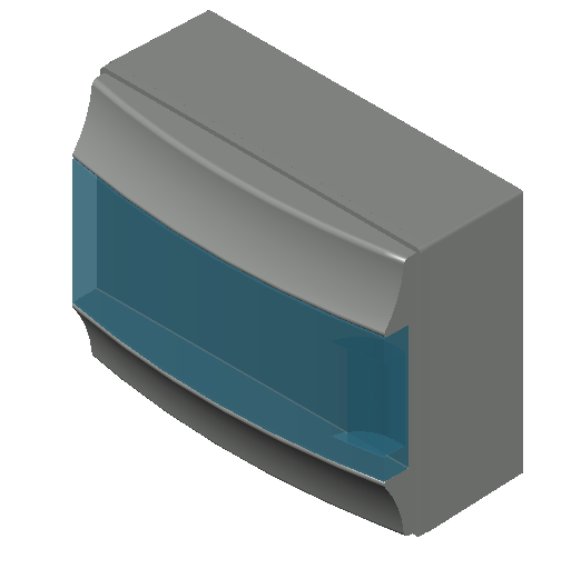 E_Distribution Board_MEPcontent_ABB_MISTRAL65_12 modules 320x250x155 with terminals transparent door_INT-EN.dwg