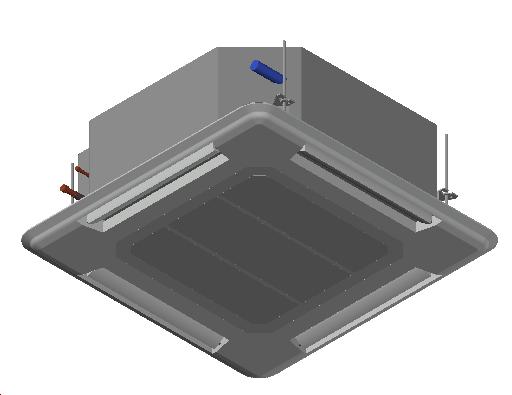 HC_Air Conditioner_Indoor Unit_MEPcontent_Mitsubishi Electric Corporation_PLA-ZRP125BA_Power Inverter_3 Phase_INT-EN.dwg
