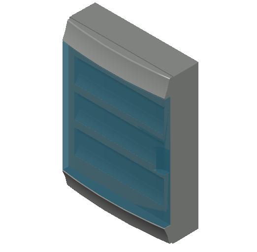 E_Distribution Board_MEPcontent_ABB_MISTRAL65_54 modules 430x600x155 without terminals transparent door_INT-EN.dwg