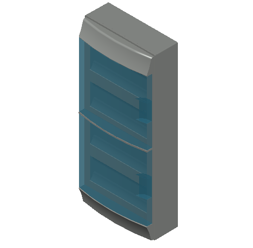 E_Distribution Board_MEPcontent_ABB_MISTRAL65_48 modules 320x735x155 without terminals transparent door_INT-EN.dwg