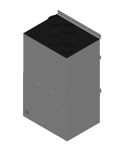 VE_Air Heater_Heat Recovery_MEPcontent_Mitsubishi Electric Corporation_VL-500CZPVU-L-E_Silencer Box P-500SB-E_INT-EN.dwg