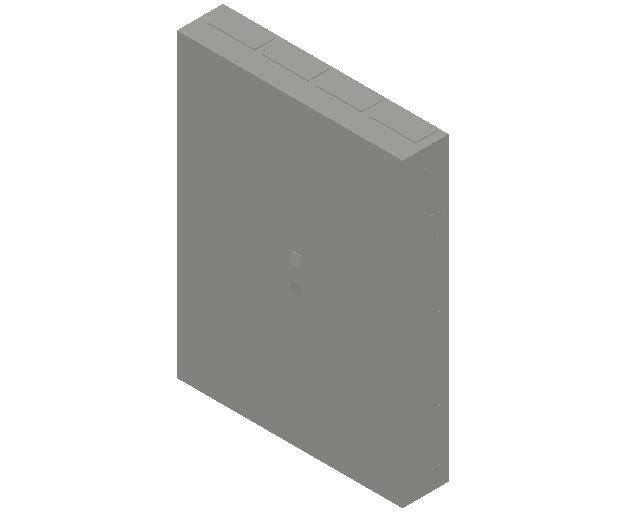 E_Distribution Panel_MEPcontent_ABB_ComfortLine B-Cabinets_9 Rows_B49 - IP44 432 modules 1400x1050x215_INT-EN.dwg