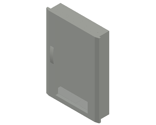 E_Distribution Panel_MEPcontent_ABB_Compact Distribution U-UL_4 Rows_U52TR4 - IP31 96 modules 834x560x120 transparent door 4R_INT-EN.dwg