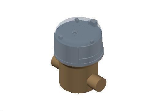M_Meter_Flow_MEPcontent_Itron_Aquadis+ Cold Water_Dn15 Lg 110 CW R400_INT-EN.dwg