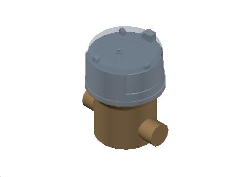 M_Meter_Flow_MEPcontent_Itron_Aquadis+ Cold Water_Dn15 Lg 105 CW R400_INT-EN.dwg