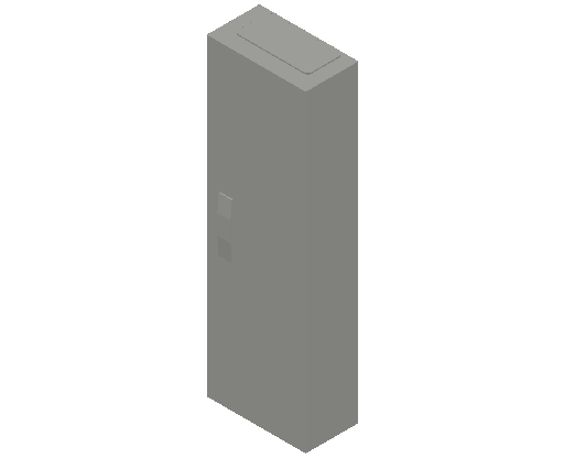 E_Distribution Panel_MEPcontent_ABB_ComfortLine CA-Cabinets_6 Rows_Empty Cabinet_CA16B - IP44 72 modules 950x300x160 transparent door_INT-EN.dwg