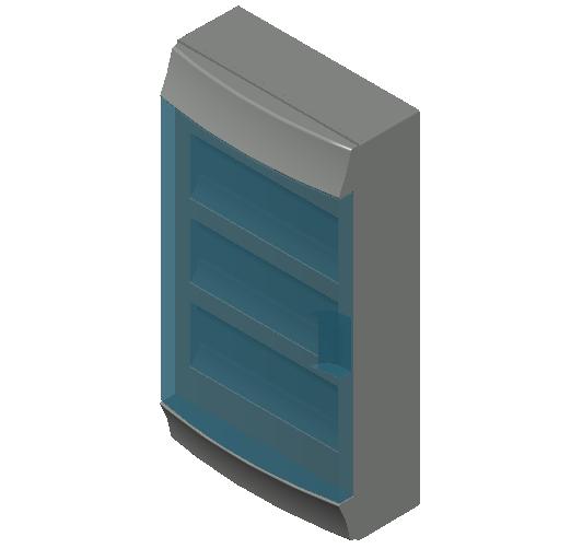E_Distribution Board_MEPcontent_ABB_MISTRAL65_36 modules 320x600x155 with terminals transparent door_INT-EN.dwg