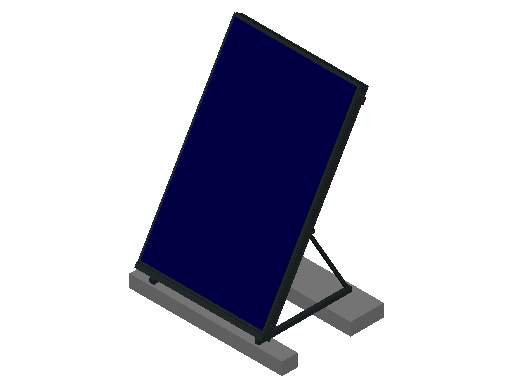 HC_Solar Collector_F_MEPcontent_Remeha_Vertical Mounted on Flat Roof_1C DB200.dwg