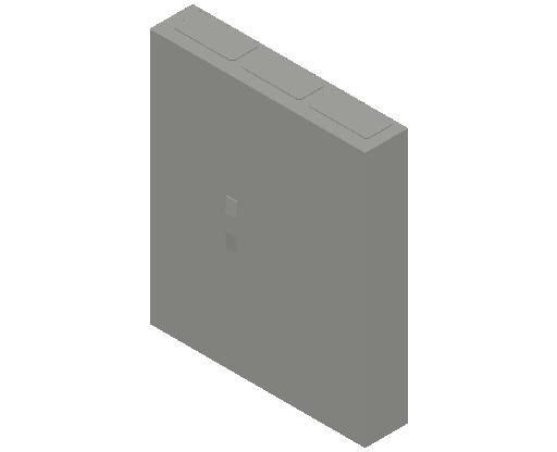 E_Distribution Panel_MEPcontent_ABB_ComfortLine CA-Cabinets_5-6 Rows_CA36RT - IP44 180 modules 950x800x160 transparent door 5R_INT-EN.dwg