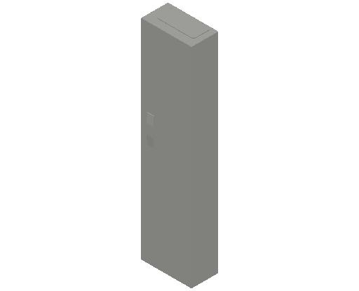 E_Distribution Panel_MEPcontent_ABB_ComfortLine CA-Cabinets_8 Rows_Empty Cabinet_CA18B - IP44 96 modules 1250x300x160 empty with door_INT-EN.dwg