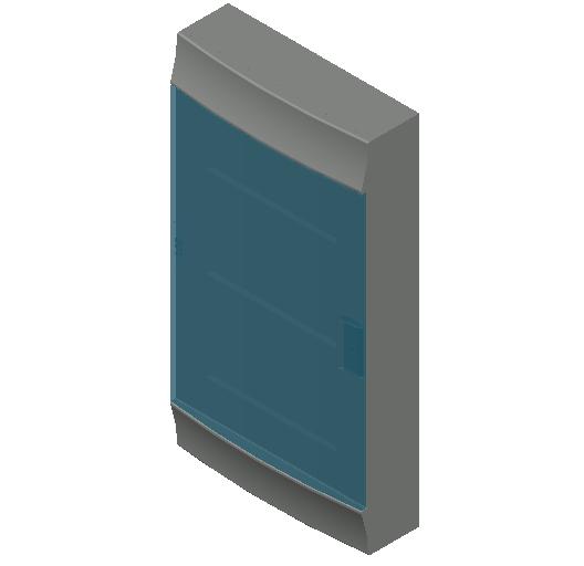 E_Distribution Board_MEPcontent_ABB_MISTRAL41F_Hollow Walls_36 modules 320x600x107 without terminals transparent door_INT-EN.dwg