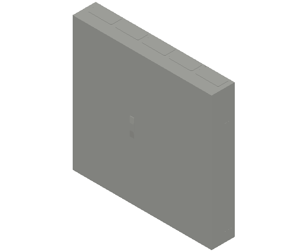 E_Distribution Panel_MEPcontent_ABB_ComfortLine B-Cabinets_8 Rows_B58 - IP44 480 modules 1250x1300x215_INT-EN.dwg