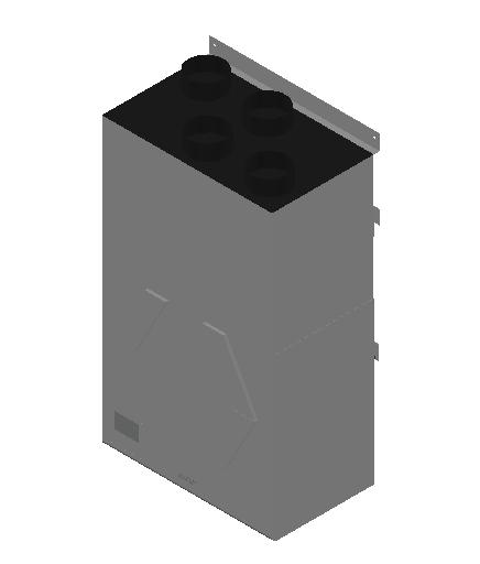 VE_Air Heater_Heat Recovery_MEPcontent_Mitsubishi Electric Corporation_VL-250CZPVU-L-E_Silencer Box P-250SB-E_INT-EN.dwg