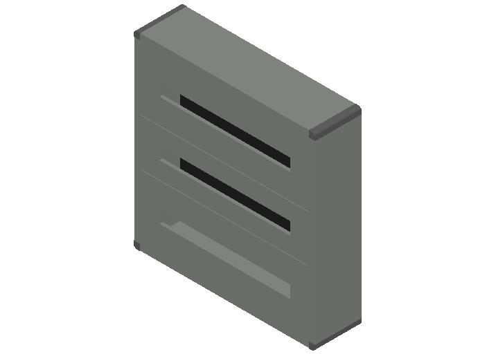 E_Distribution Panel_MEPcontent_Legrand_Lexic XL3 160_Plastic_Wall Mounting_3x72_INT-EN.dwg