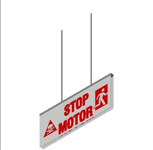 E_Emergency Lighting Fixture_MEPcontent_ExcelAir_Stop Motor Sign_INT-EN.dwg